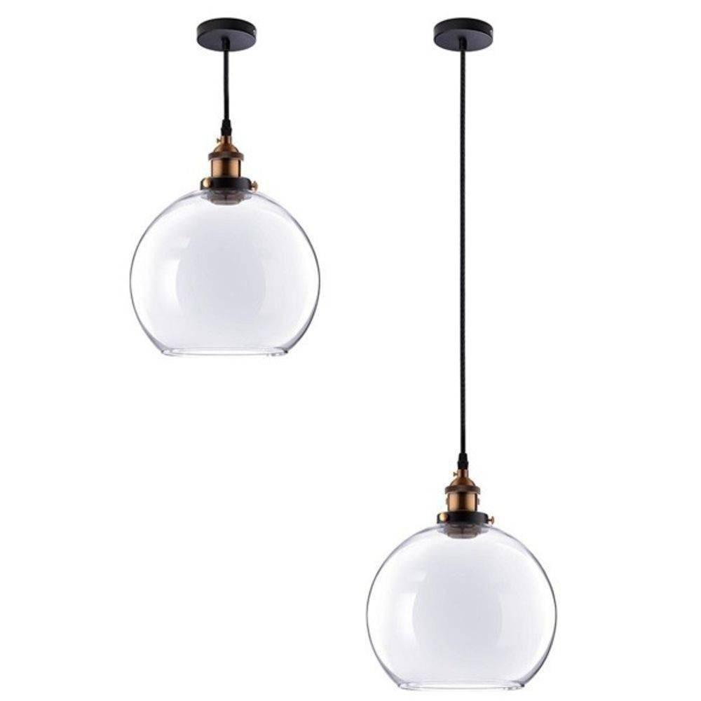 5f0823f0a pendente retro industrial vidro luminária vintage bola. Carregando zoom.