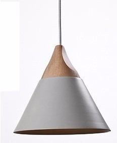 pendente slope cinza madeira 4617 mart skivo design italiano