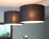 pendente tecido - luminária de teto lustre cúpula preta