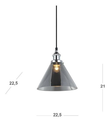 pendente triangular vidro adely lighting cromado gfwt