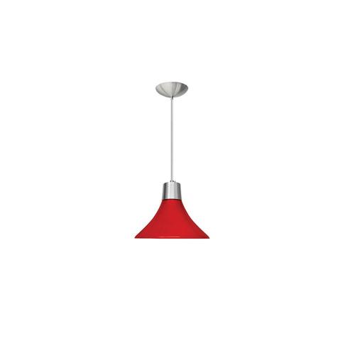 pendente vermelho luminária para cozinha ø26 sala - caisma