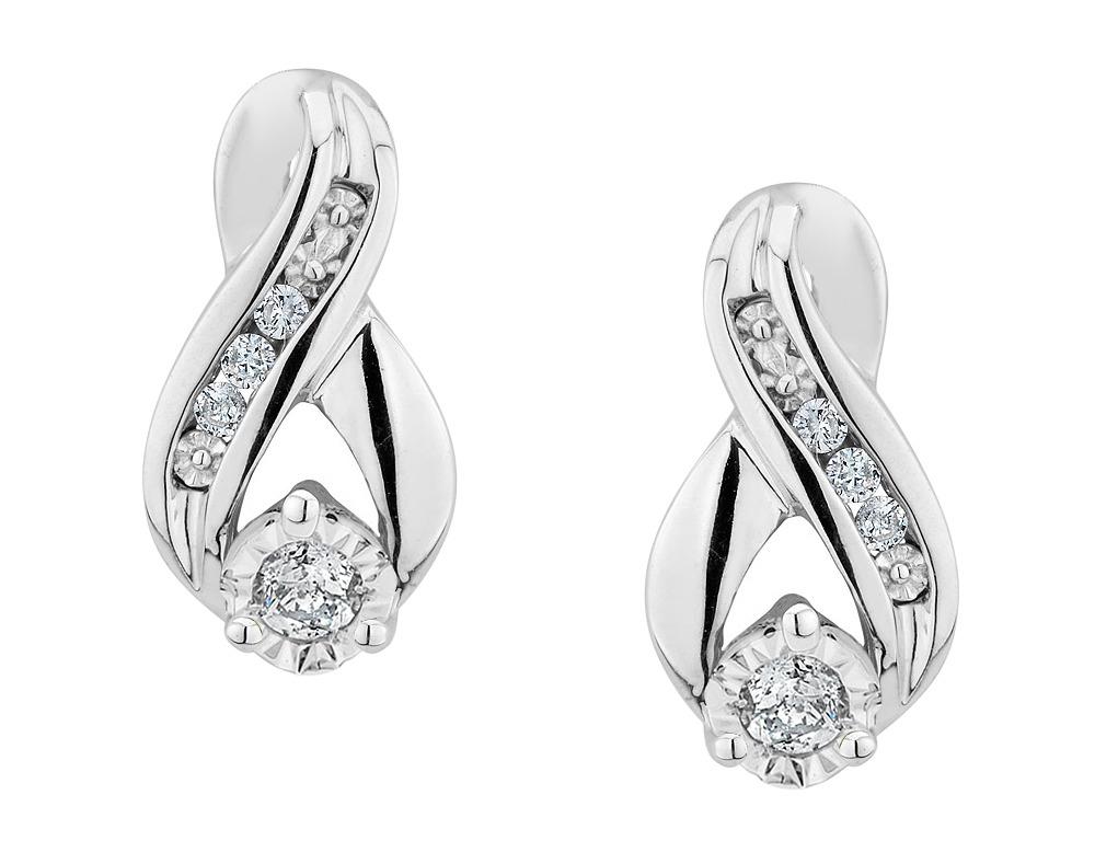 497c6716efa2 Pendientes Infinity Diamante En Plata De Ley -   1