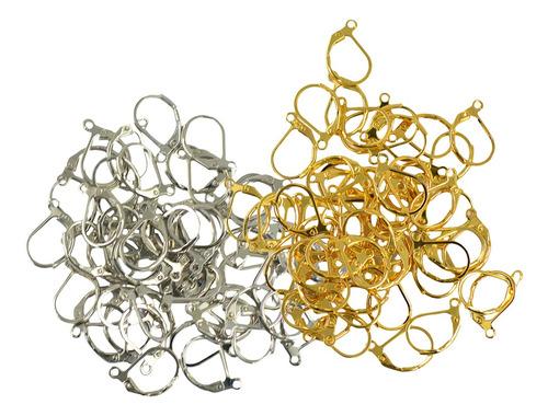 pendientes leverback color plata / oro earwire aros de pendi