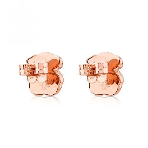 bed00e5df1b9 Pendientes Tous Motif Rose Vermeil Silver Onyx Bear -   16.900 en ...
