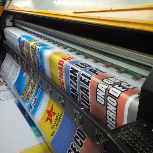 pendón tela pvc - solo impresión metro lineal - sin diseño