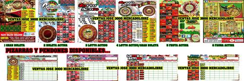 pendones afiches publicidad lotto activo ruletas