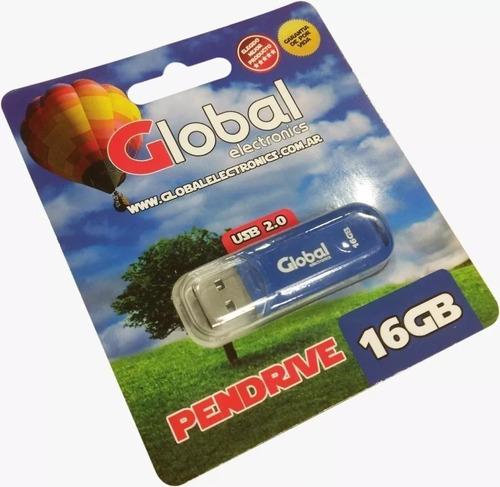 pendrive 16gb global varios colores