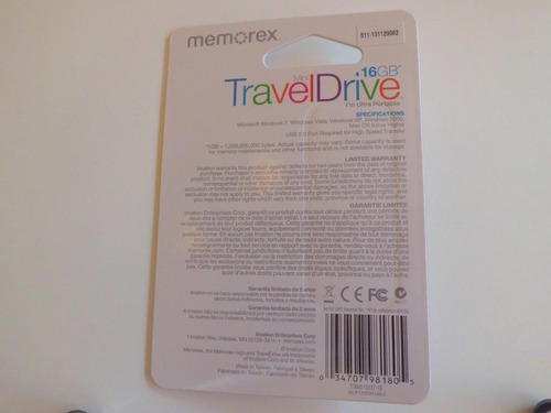pendrive 16gb memorex con despacho