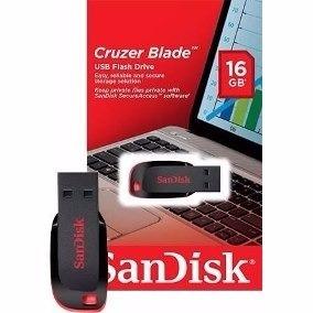 pendrive 16gb sandisk 100% original novo lacrado de fabrica