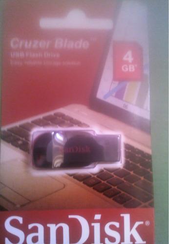 pendrive 4 gb sandisk en blister sellado original