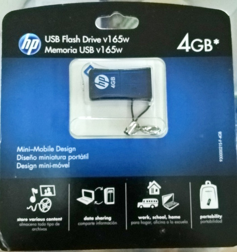 pendrive 4gb hp 100% original 100% sellado en blister usb