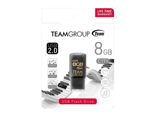 pendrive 8 gb team mini blanco o negro - garantia x vida