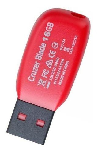 pendrive cruzer blade 16 gb negro
