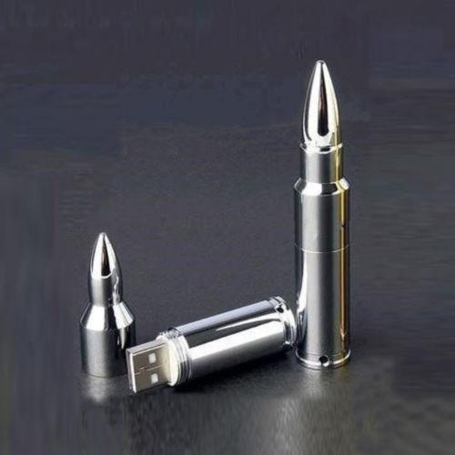 pendrive de 8gb en forma de bala.