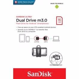 pendrive dual drive m3.0 16gb sandisk - revogames