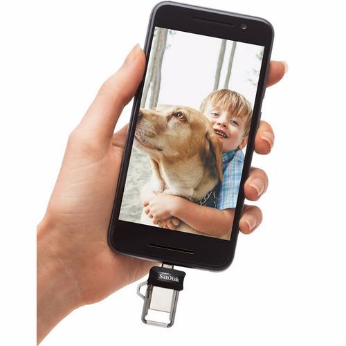 pendrive dual drive m3.0 64gb sandisk para celular revogames