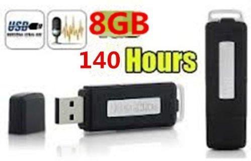pendrive espia 8gb grabadora de voz(150 horas) formato wav