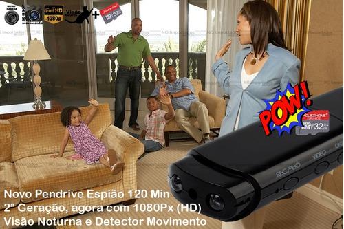pendrive espião micro camera espia filma super bateria uc-10