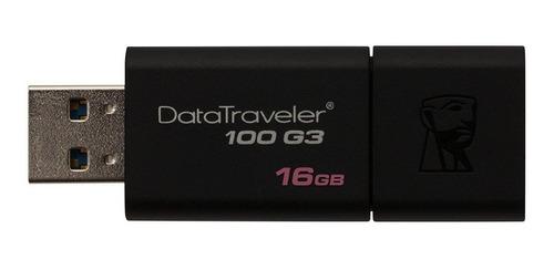 pendrive kingston 16gb dt100g3/16 usb 3.0