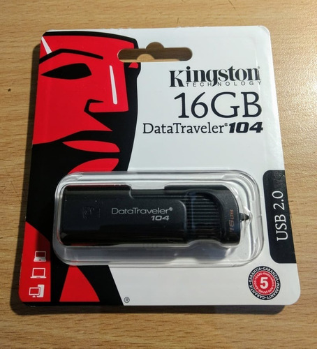 pendrive kingston 16gb dt104 usb 2.0 - original