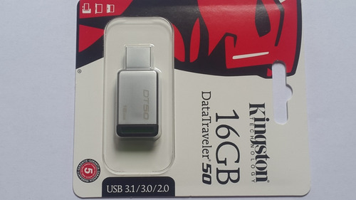 pendrive kingston 16gb usb 3.1/3.0/2.0 datatravel 50 metal