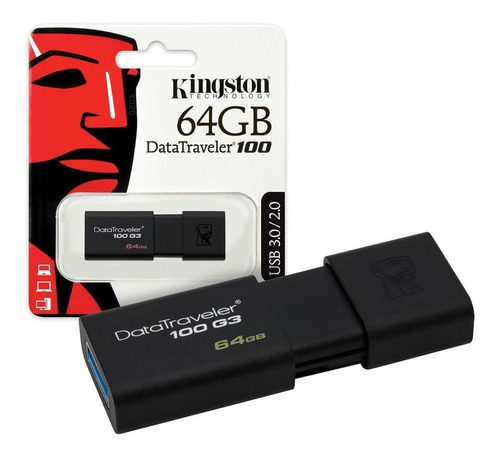pendrive kingston 64gb usb 3.0 3.1 datatraveler 100