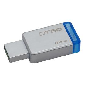 Pendrive Kingston Datatraveler 50 64gb Plateado/azul
