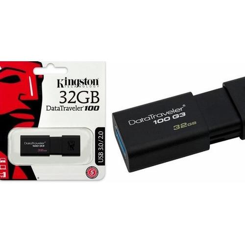 pendrive kingston datatraveler dt 100 g3 32 gb negro