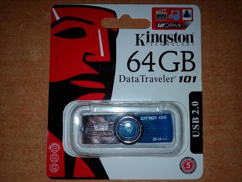 pendrive kingston dt 101 64 gb nuevo tienda chacao