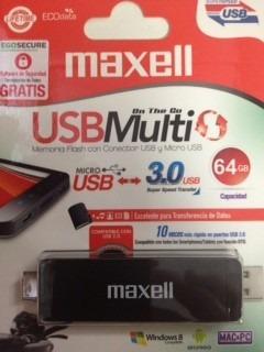 pendrive  otg 64gb maxell ( dual usb )