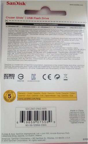 pendrive sandisk 16gb 2.0/3.0 compatible