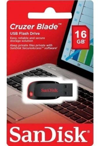 pendrive sandisk cruzer blade 16gb 2.0 -  oferta revogames