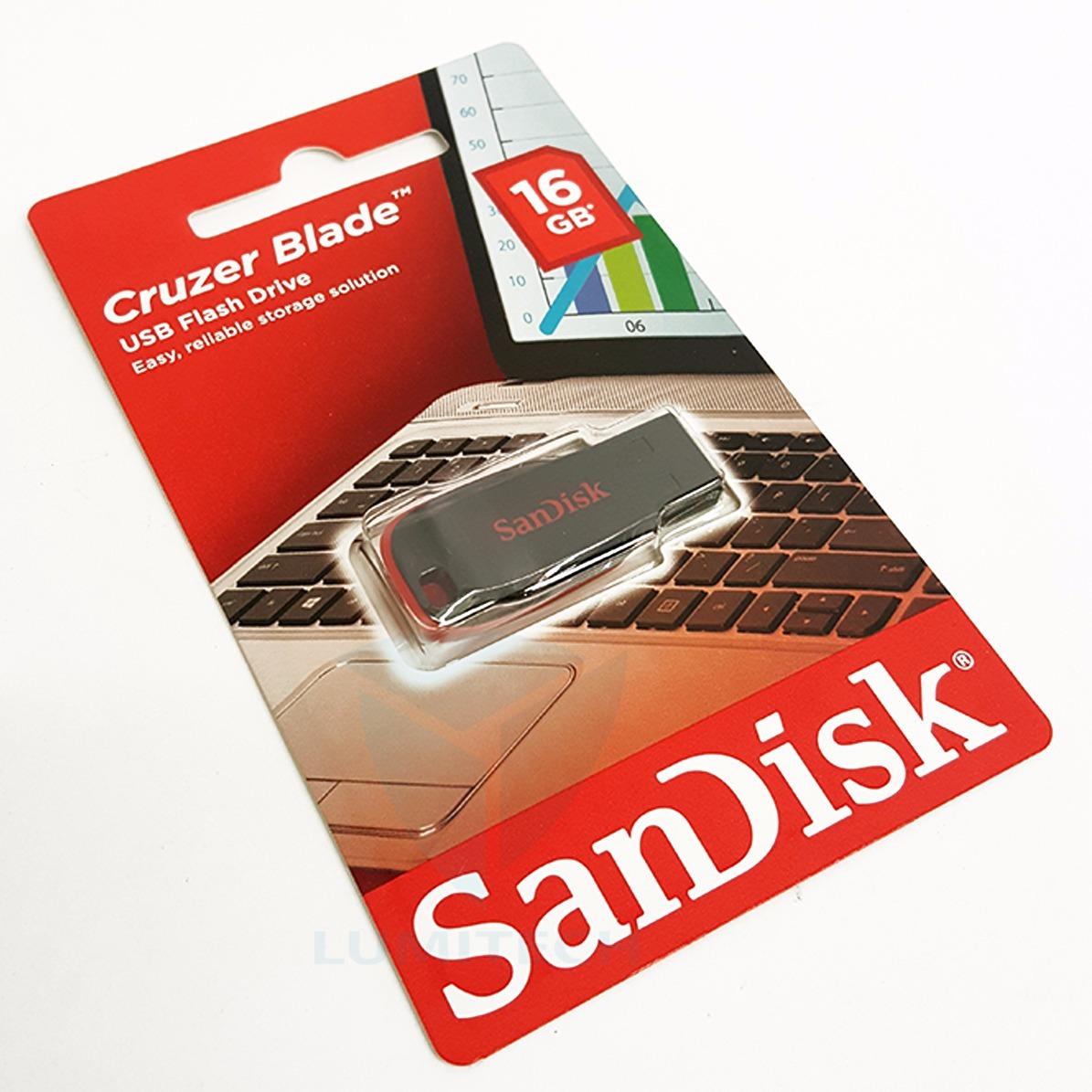 Pendrive Sandisk Cruzer Blade Cz50 16gb Usb 28006 En Mercado Libre Flashdisk Cargando Zoom