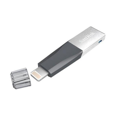 pendrive usb 3.0/lightning 128gb sandisk ixpand mini flash