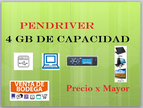 pendriver 4 gb capacidad