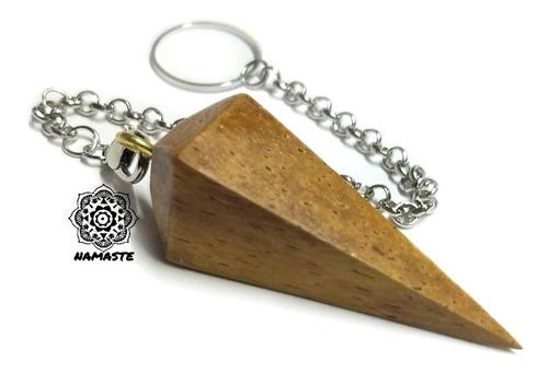 pendulo basico madera radiestesia adivinación sanacion