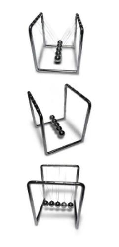 pendulo de newton tic tac escritorio adorno metal 10 x 11cm