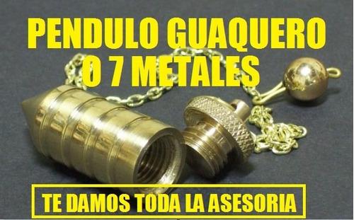 péndulo en bronce  rezado  para encontrar guacas y oro