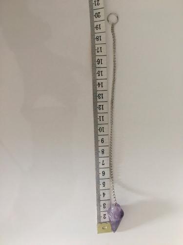 pendulo piedra amatista (radiestecista reike tre sanación)