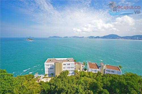 península guarujá - 7 suites - frente total mar - elevador - ca0005