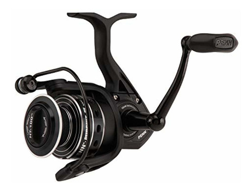 penn pursuit iii spinning fishing reel, black silver, 5000
