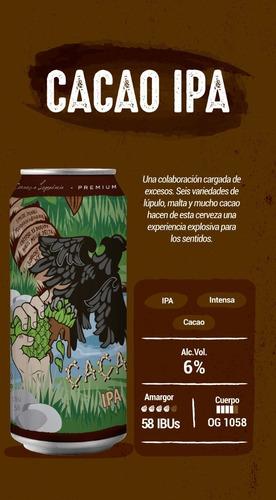 peñón del aguila cacao ipa six pack - lata 473 ml