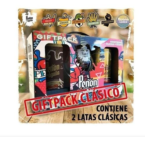 peñón del aguila gift pack clásico - 2 latas + copa