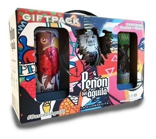 peñón del aguila gift pack especial - 2 latas + copa