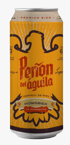 peñón del aguila honigbier six pack - lata x473 ml