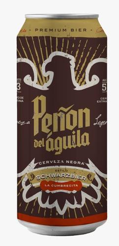 peñón del aguila schwarzbier six pack - lata 473 ml