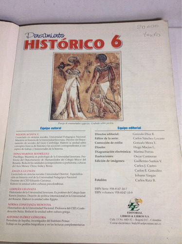 pensamiento histórico 6, educación básica secundaria