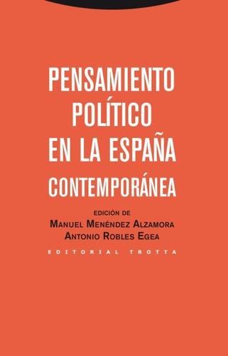 pensamiento político en la españa contemporánea(libro cienci
