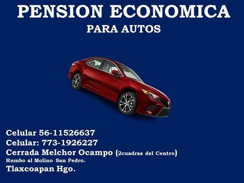 pension economica para autos
