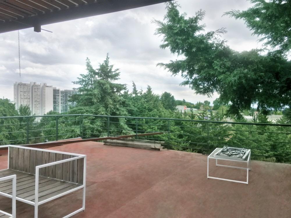 pent house en renta por santa fé,roof garden,vista bosque